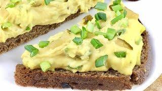 Паштет из фасоли с зеленым луком. Блюд для поста и не только.