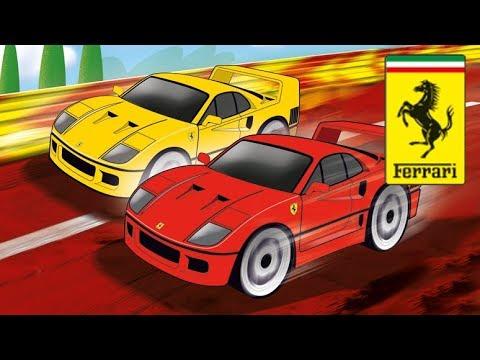 Ferrari F40 vs Ferrari F40 – Carrera First! || Cars Slot Racing Track