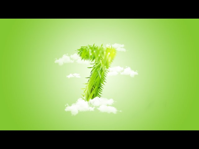 How to create as grass number design in Photoshop CC 2019