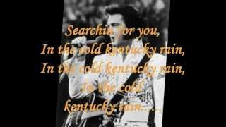 ELVIS PRESLEY - KENTUCKY RAIN ( LYRICS ) VINYL 1974
