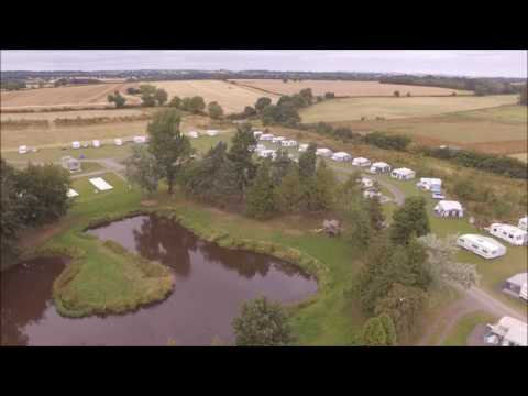 Thorpe Farm Campsite drone Footage. North Yorkshire