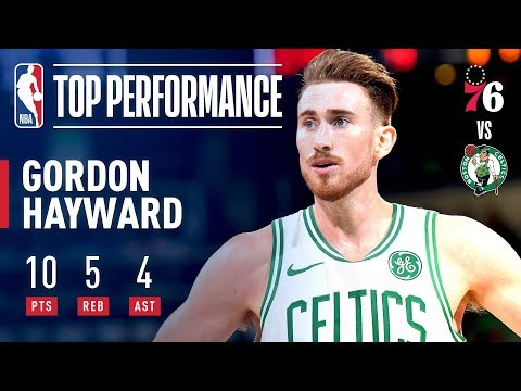 Gordon Hayward Returns To The Celtics Lineup | 2018-2019 NBA Opening Night