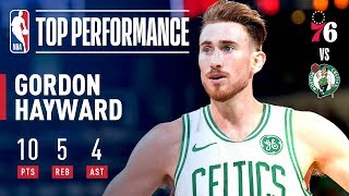 Video Gordon Hayward Returns To The Celtics Lineup | 2018-2019 NBA Opening Night download MP3, 3GP, MP4, WEBM, AVI, FLV Oktober 2018