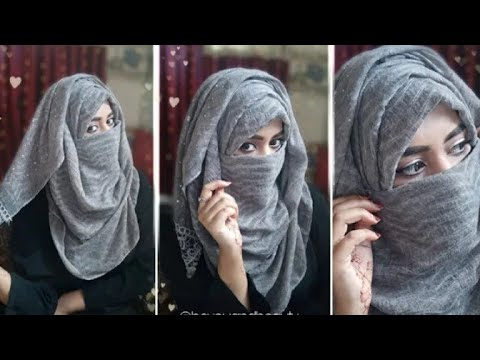 Eid Special - Party Hijab Style With Niqab / Without Niqab | Hijab Is Image | 2019 Hijab Girls