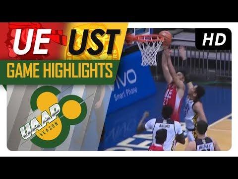 UAAP 80 MEN'S BASKETBALL ROUND 1: UST vs UE Game Highlights - October 7, 2017