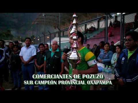PREMIACION AL CAMPEON Y SUB CAMPEON PROVINCIAL DE FUTBOL OXAPAMPA