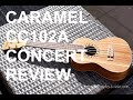 Got A Ukulele Reviews - Caramel CC102A Zebrawood Concert