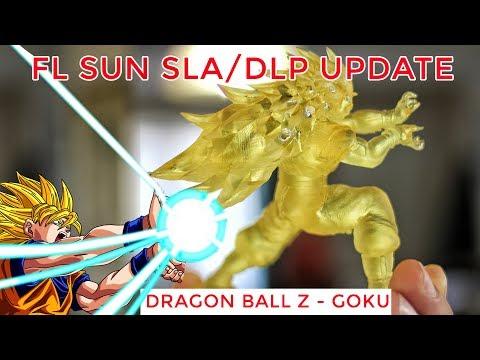 ✔ PERFECT 3D GOKU!   FLSUN SLA/DLP UPDATE! aka Micromake L2 Resin Printer