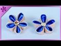 DIY Kanzashi flower, hair clip (ENG Subtitles) - Speed up #312