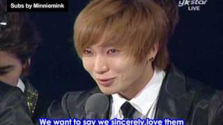 [Eng sub] Super Junior Golden Disk Daesang
