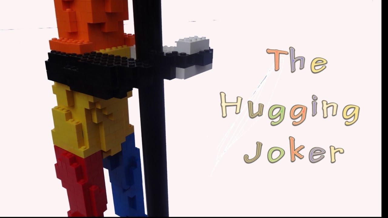 lego sculpture the hugging joker with building. Black Bedroom Furniture Sets. Home Design Ideas