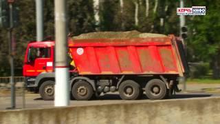Перевалка сыпучих грузов в центре Керчи