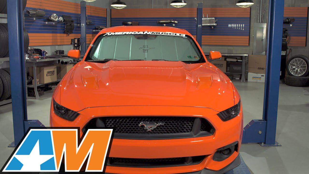 2015-2017 Mustang Covercraft UVS100 Heat Shield - Tri-Bar Pony Logo Review    Install - YouTube 2d688ae949d