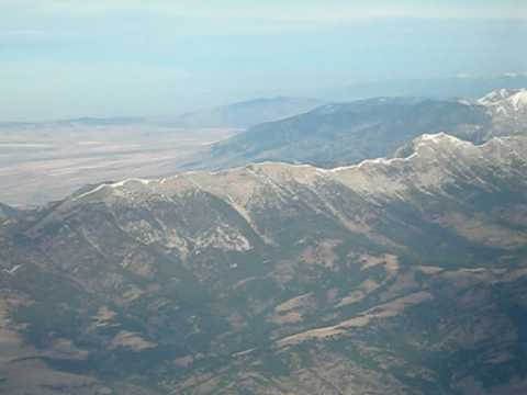 The Bridger Mountains - Approaching from the east