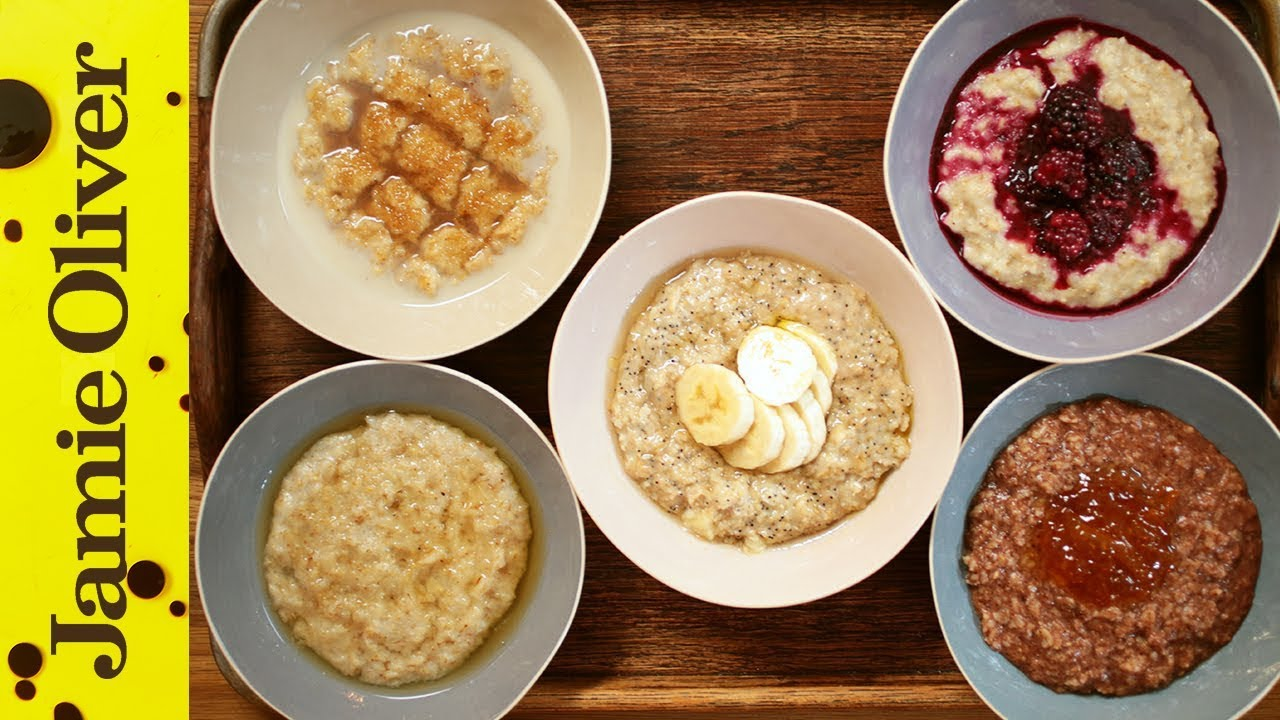 How to make perfect porridge 5 ways jamie oliver youtube Something different to make for dinner