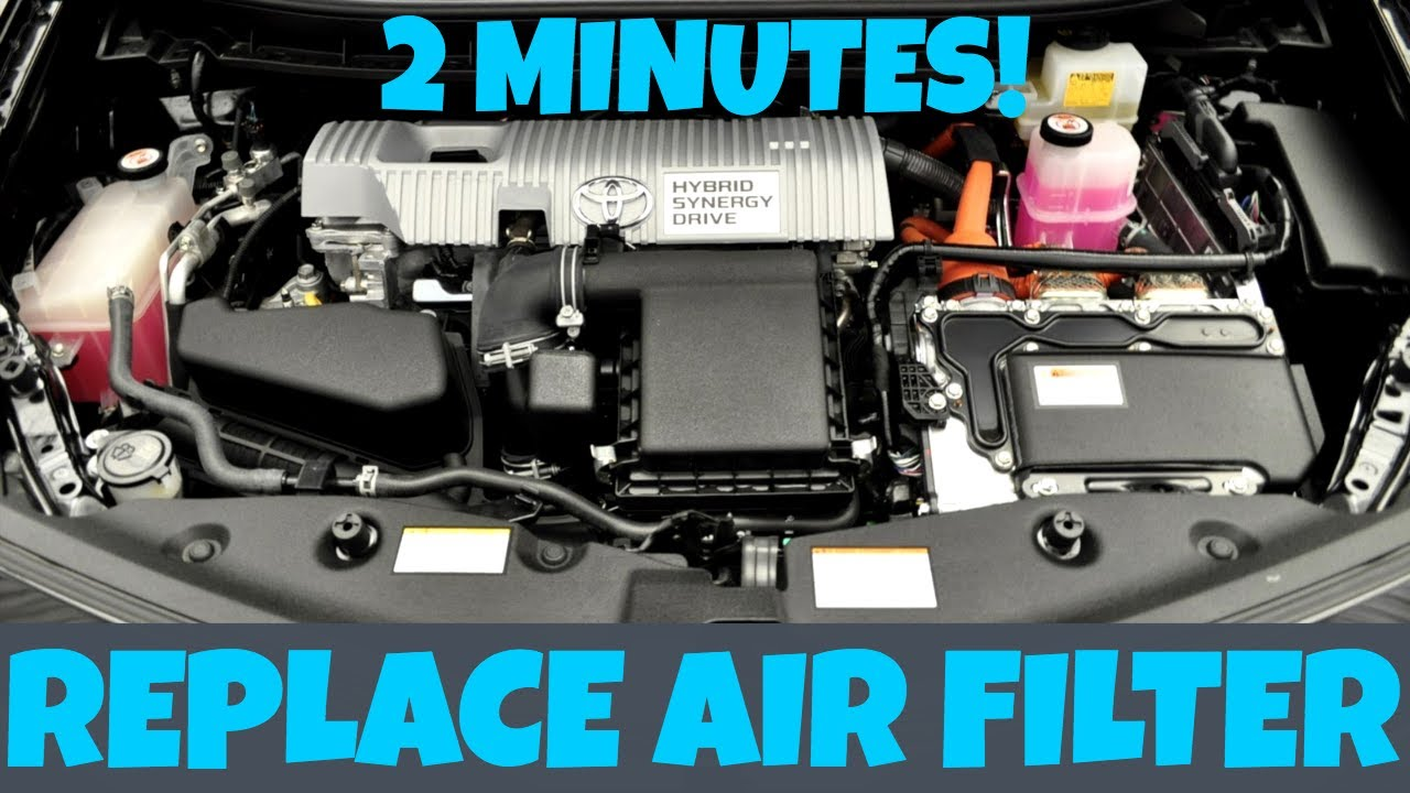 How To Replace Toyota Prius Engine Air Filter In 2 Minutes