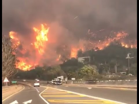Knysna wildfires, extreme heat and fire on major tourist attraction, the garden route,