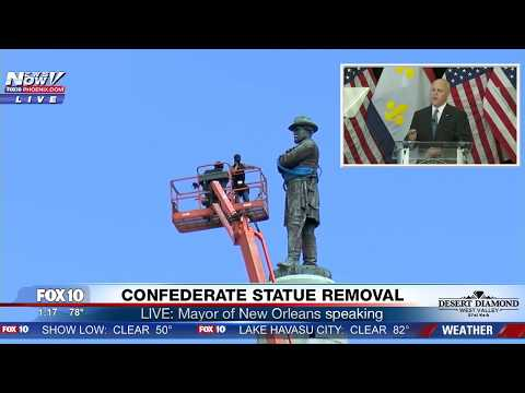 WATCH: New Orleans Mayor Speaks PASSIONATELY About Robert E. Lee Confederate Statue Removal (FNN)