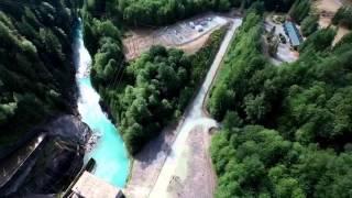 Upper Baker Lake & Dam: From the air