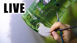Painting Live - Green Bottle - 16th