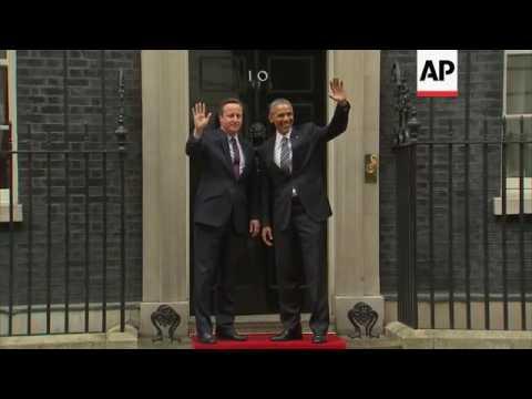 Obama meets British PM Cameron