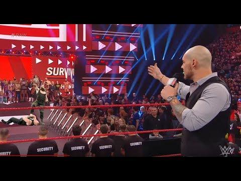 OMG Braun Strowman attack fight Baron Corbin must watch what happend   WWE RAW 5th November 2018