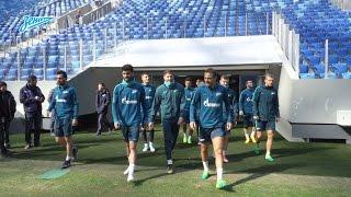 Момент дня на «Зенит-ТВ»: первая минута зенитовцев на новом стадионе