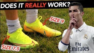 Ronaldo's Secret Football boot Trick, Why HE does it, but YOU SHOULDN'T!