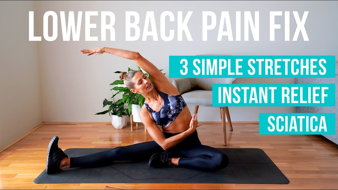 How to fix lower back pain   20 MUST DO stretches INSTANT RELIEF