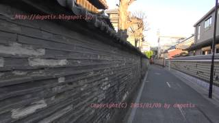 Japan Trip 2015 Tokyo Yanaka Kawarabei(Japanese roof tile fence)