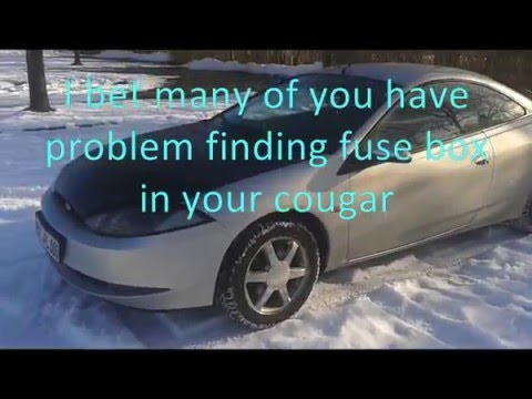 cougar fuse box youtube rh youtube com fuse box 99 mercury cougar fuse box for a 1993 mercury cougar