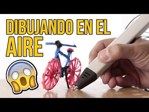 Cómo dibujar en el AIRE con un LÁPIZ 3D (Experimentos Caseros)