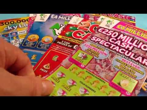 Wow!..More Scratchcard....we get a 5x up...Lucky Lines...Cash word...Bingo..Rubik's