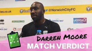 Norwich City 3 West Brom 4 ¦ Darren Moore verdict