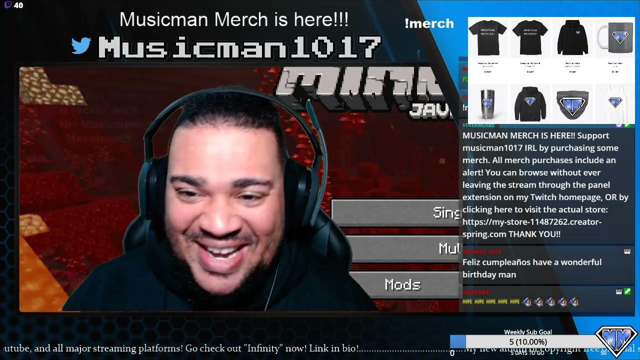 (3-29-2021) BIRTHDAY STREAM and Musicman Merch!!!! !merch !music