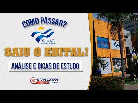 Concurso Câmara de Palmas   Edital comentado e dicas de Estudo - Como Passar?