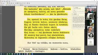 19 | Sinjoro Tadeo 3: 001-106 | Pan Tadeusz – 에스페란토 판 타데우시 3권 공부 (zoom)