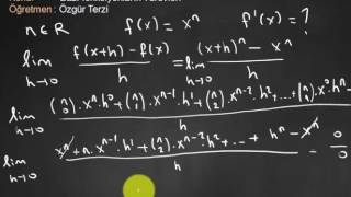 x^n türevi ispat (1.Bölüm) Video
