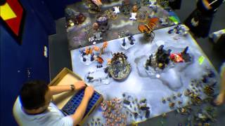 tyranids vs imperial guard tau space marines apocalypse 9000 points game 1