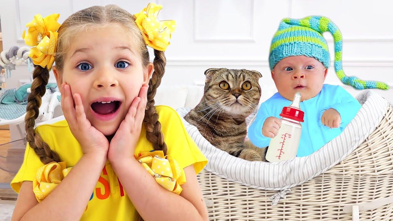 Diana và con mèo của cô ấy