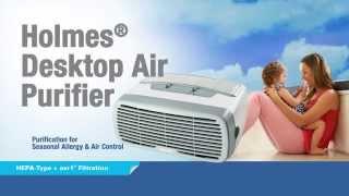 Holmes® Desktop Air Purifier w/HEPA-Type Filter & Ionizer - HAP242 NUC Smoke Chamber Video
