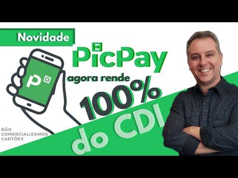 """💳PicPay """"Agora Novidade"""" 100% do CDI seu dinheiro Rende na Conta PicPay✔🔝"""