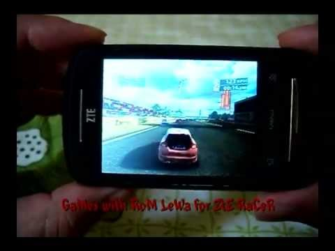games on zte racer / x850 with rom LeWa