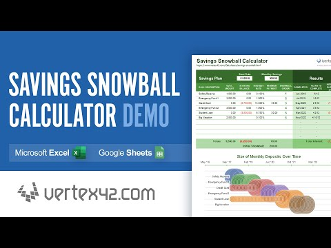 How To Use The Savings Snowball Calculator