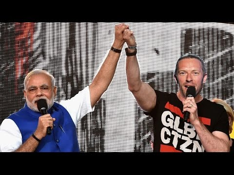 """Modi Modi"" chants during Coldplay live event in Mumbai 