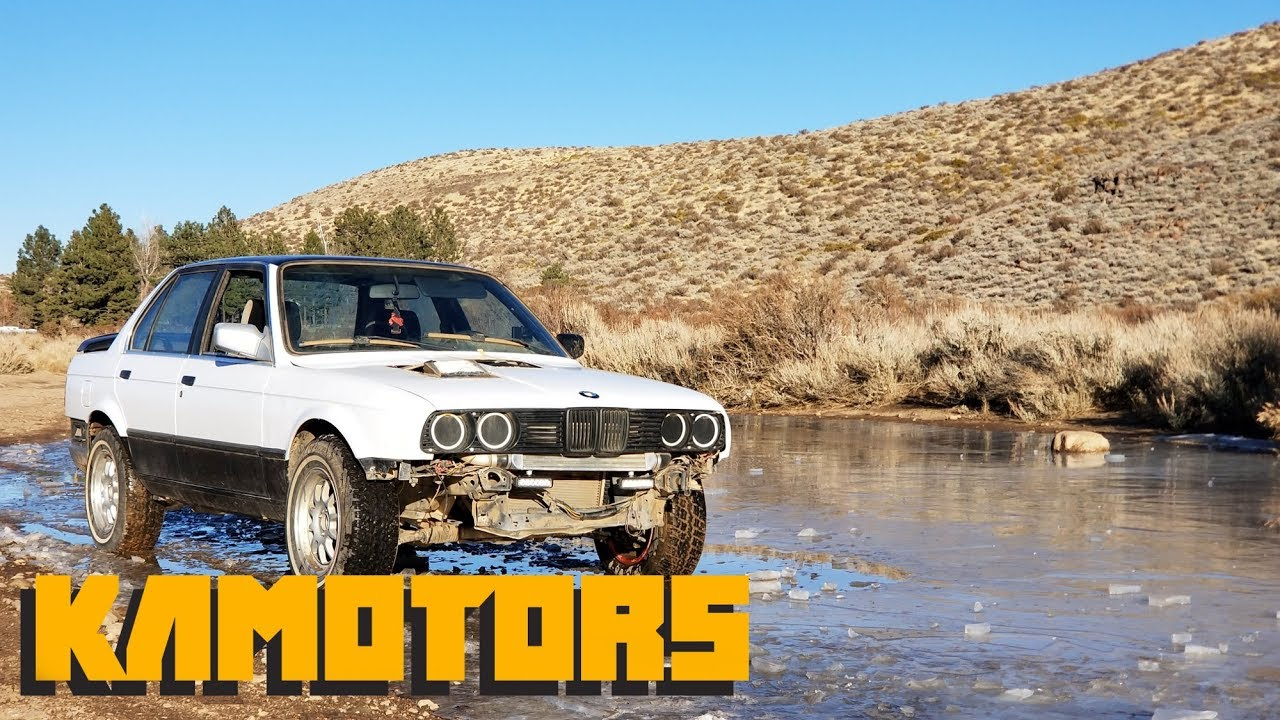 Turbo Lifted Rally E30 318i Pure Action vid #2 Kamotors 1080p 60fps