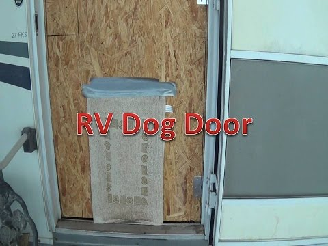 Rv Dog Door Without Cutting Or Damaging The Rv Or Trailer Youtube