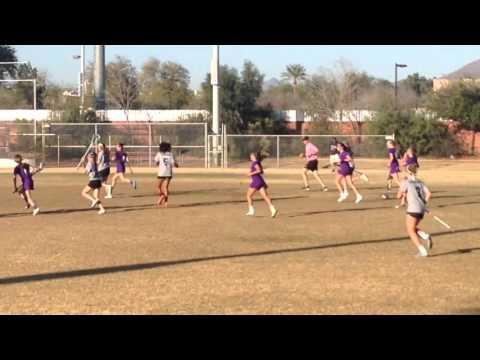 Kristen Slogar Playing Lacrosse - Notre Dame Preparatory High School - Scottsdale, Arizona