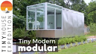 Sleek Modern Modular Tiny House Inspired By Converted Dumpster