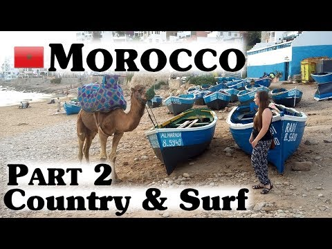 MOROCCO TAGHAZOUT Part 2 I Agadir Market & Surf in Anza I #31